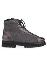 Ботинки Santoni MBSN20943 60% шерсть, 40% кожа Темно-серый Италия изображение 1
