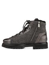 Ботинки Santoni MBSN20943 60% шерсть, 40% кожа Темно-серый Италия изображение 2