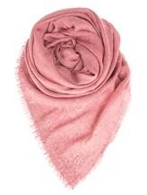 Палантин Faliero Sarti 0245 42% шерсть, 28% шёлк, 25% кашемир, 5% полиэстер Темно-розовый Италия изображение 0