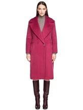 Пальто Agnona L3030X 65% альпака, 35% шерсть Малиновый Италия изображение 1