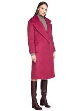 Пальто Agnona L3030X 65% альпака, 35% шерсть Малиновый Италия изображение 2