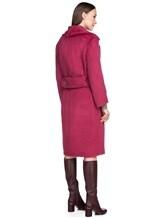 Пальто Agnona L3030X 65% альпака, 35% шерсть Малиновый Италия изображение 3