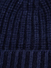 Шапка IRISvARNIM 188900 100% кашемир Темно-синий Италия изображение 1