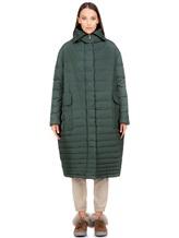 Пальто EREDA 18WEDC0800 57% полиамид, 43% полиэстер Зеленый Италия изображение 1