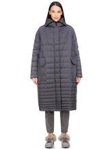 Пальто EREDA 18WEDC0800 57% полиамид, 43% полиэстер Серый Италия изображение 2