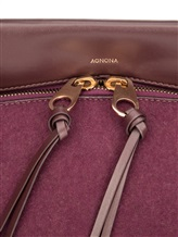 Сумка Agnona PB404X 100% кожа теленка Фиолетовый Италия изображение 3