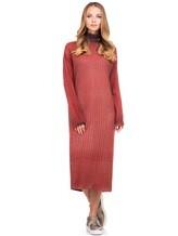 Платье WLNS WELLNESS CASHMERE M01287 100% кашемир Терракотовый Италия изображение 0