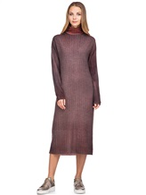 Платье WLNS WELLNESS CASHMERE M01287 100% кашемир Терракотовый Италия изображение 5