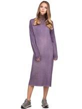 Платье WLNS WELLNESS CASHMERE M01287 100% кашемир Сиреневый Италия изображение 0