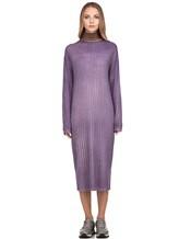 Платье WLNS WELLNESS CASHMERE M01287 100% кашемир Сиреневый Италия изображение 1