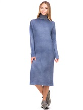 Платье WLNS WELLNESS CASHMERE M01287 100% кашемир Серо-голубой Италия изображение 0