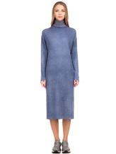 Платье WLNS WELLNESS CASHMERE M01287 100% кашемир Серо-голубой Италия изображение 1