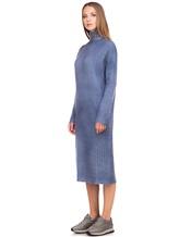 Платье WLNS WELLNESS CASHMERE M01287 100% кашемир Серо-голубой Италия изображение 2