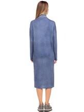 Платье WLNS WELLNESS CASHMERE M01287 100% кашемир Серо-голубой Италия изображение 3