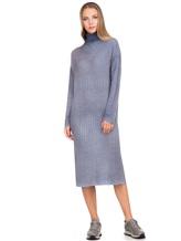 Платье WLNS WELLNESS CASHMERE M01287 100% кашемир Серо-голубой Италия изображение 5