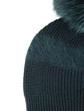 Шапка Lorena Antoniazzi LM34156CP1 100% шерсть Темно-зеленый Италия изображение 2