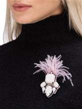 Брошь Lorena Antoniazzi LP3488SP1 100% латунь Серо-розовый Италия изображение 2