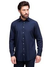 Рубашка Massimo Alba GENOVA 60% модал, 40% хлопок Темно-синий Италия изображение 0