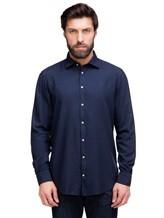 Рубашка Massimo Alba GENOVA 60% модал, 40% хлопок Темно-синий Италия изображение 1