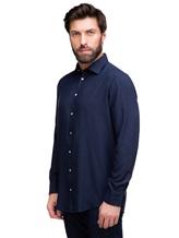 Рубашка Massimo Alba GENOVA 60% модал, 40% хлопок Темно-синий Италия изображение 2