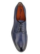 Ботинки Santoni MCC014272 100% кожа Темно-синий Италия изображение 4