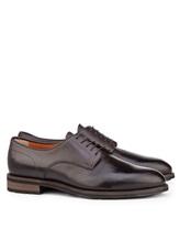 Ботинки Santoni MCC014272 100% кожа Темно-коричневый Италия изображение 0
