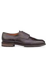 Ботинки Santoni MCC014272 100% кожа Темно-коричневый Италия изображение 1