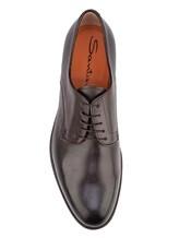 Ботинки Santoni MCC014272 100% кожа Темно-коричневый Италия изображение 4