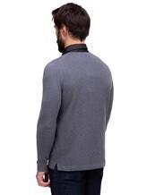 Поло FIORONI M17308C1 55% шерсть, 30% шёлк, 15% кашемир Серый Италия изображение 3