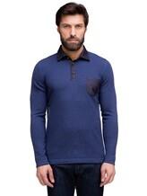 Поло FIORONI M17308C1 55% шерсть, 30% шёлк, 15% кашемир Синий Италия изображение 1