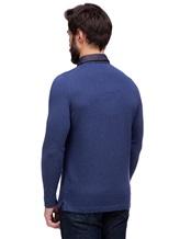 Поло FIORONI M17308C1 55% шерсть, 30% шёлк, 15% кашемир Синий Италия изображение 3