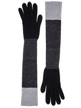 Перчатки Les Copains 0LA121 70% шерсть, 30% кашемир Черный Италия изображение 0