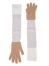 Перчатки Les Copains 0LA121 70% шерсть, 30% кашемир Темно-бежевый Италия изображение 0