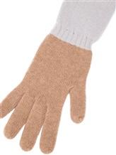 Перчатки Les Copains 0LA121 70% шерсть, 30% кашемир Темно-бежевый Италия изображение 1