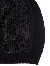 Шапка Peserico S36066F07 70% шерсть, 20% шёлк, 10% кашемир Черный Италия изображение 1