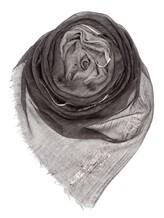 Палантин Agnona AS413Y 100% кашемир Серый Италия изображение 0