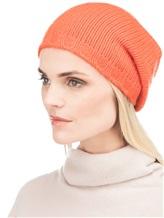 Шапка Lamberto Losani A153280 100% кашемир Оранжевый Италия изображение 2