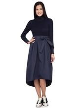 Платье Peserico S82014F07A 70% шерсть, 20% шёлк, 10% кашемир Темно-синий Италия изображение 0