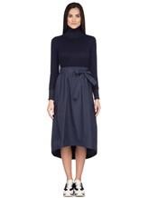 Платье Peserico S82014F07A 70% шерсть, 20% шёлк, 10% кашемир Темно-синий Италия изображение 1