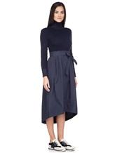 Платье Peserico S82014F07A 70% шерсть, 20% шёлк, 10% кашемир Темно-синий Италия изображение 2