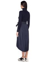 Платье Peserico S82014F07A 70% шерсть, 20% шёлк, 10% кашемир Темно-синий Италия изображение 3