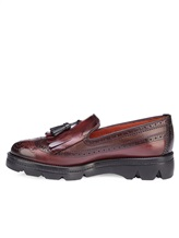 Ботинки Santoni WUUD57569 100% кожа Бордовый Италия изображение 2