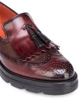 Ботинки Santoni WUUD57569 100% кожа Бордовый Италия изображение 4