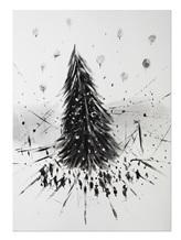 Картина Кирилл Оболенский ЕЛЬ  Черно-белый Россия изображение 0