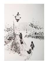 Картина Кирилл Оболенский ГОРКА  Черно-белый Россия изображение 0