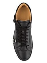 Кроссовки Santoni MBGU14716 100% кожа Черный Италия изображение 4