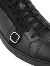 Кроссовки Santoni MBGU14716 100% кожа Черный Италия изображение 5