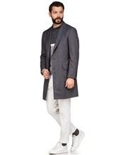 Пальто Brunello Cucinelli 6350 100% шерсть Серый Италия изображение 1