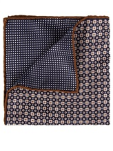 Платок Brunello Cucinelli 0091 51% шёлк, 49% хлопок Темно-синий Италия изображение 1