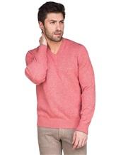 Джемпер V-вырез Brunello Cucinelli 72302 100%кашемир Розовый Италия изображение 0